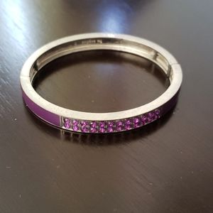 Lia Sophia purple bangle